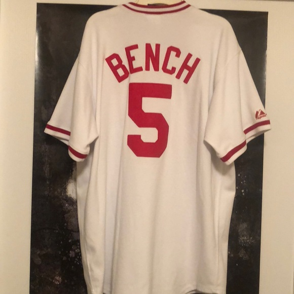 new style 40f9b 7f19d Vintage Johnny Bench, Cooperstown Jersey XL